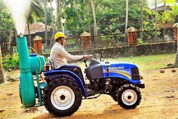 Tractor-Mounted Equipment to  Spray Chemical Solutions on Affected Arecanut