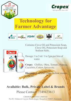 Cropex-'ORCON' the organic solution for crop diseases