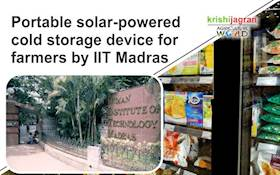 Portable solar-powered cold storage device for farmers by IIT Madras