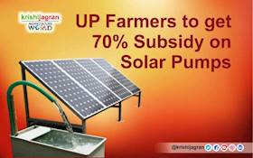 GOOD NEWS- UP Farmers to get 70% Subsidy on Solar Pumps