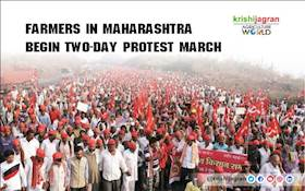 Farmers in Maharashtra begin two-day protest march