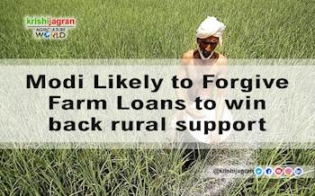 Modi Likely to Forgive Farm Loans to win back rural support