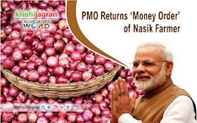 PMO Returns 'Money Order' of Nasik Farmer who got Meager Amount for Onions
