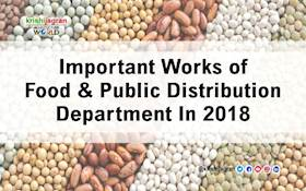Important Works of Food & Public Distribution Department In 2018