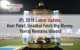 IPL 2019 Latest Update; Axar Patel, Unadkat Fetch Big Money, Yuvraj Remains Unsold