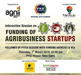Interactive Session on 'Funding of Agribusiness Startups' to be held on 7th March