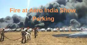 300 Vehicles Destroyed in Massive Fire at Aero India Show Parking lot, Bengaluru