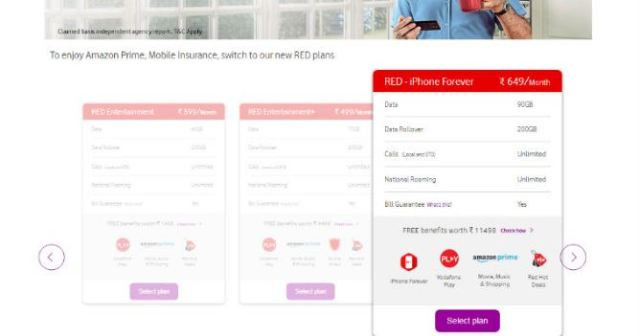 vodafone red iphone plan