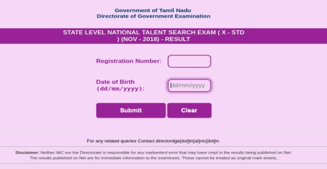 Check NTSE Tamil Nadu Stage 1 Result 2019, Merit list and Cut off Here