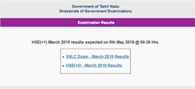 TN 11th Result 2019
