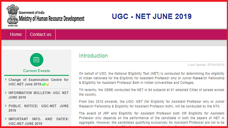 UGC NET 2019