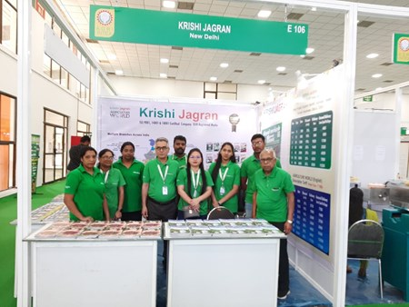 Krishi Jagran team in Agri Intex 2019 at Coimbatore