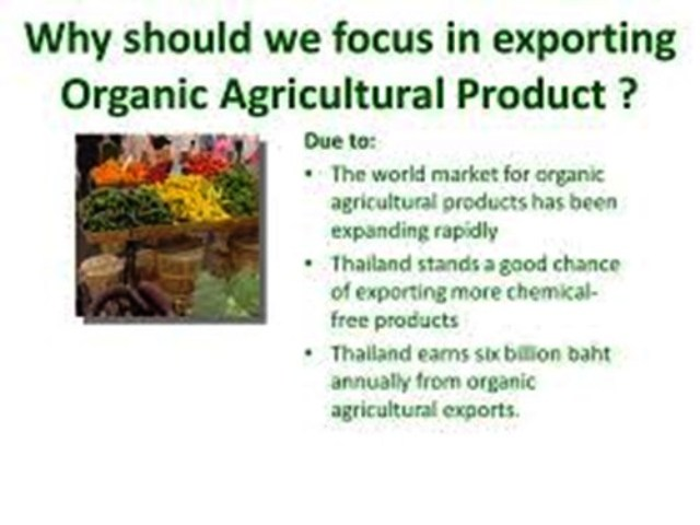 Plans to Boost Value Added Exports, Organic Products