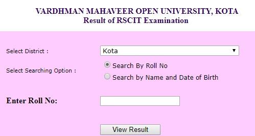 VMOU Rajasthan SCIT Result 2019 Declared
