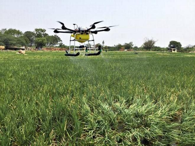 Drones for spraying pesticides