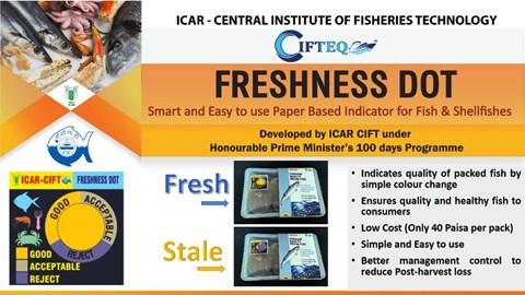Freshness Indicator Based on Smart Paper Developed By CIFT