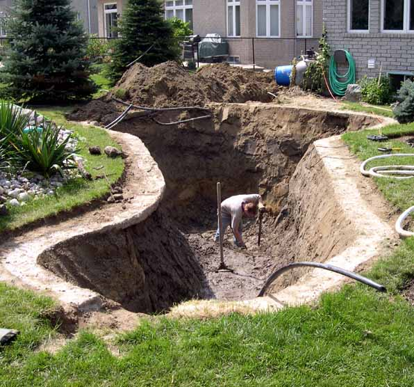 Dimensions dig different sized fish ponds for Garden pond depth